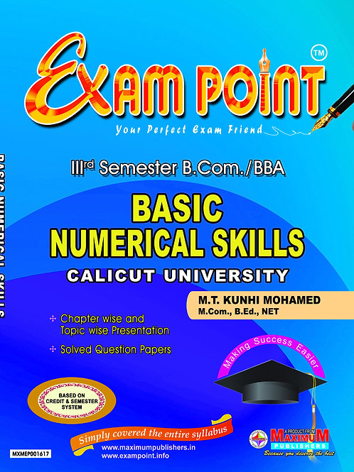 Third Semester Basic Numerical Skills for Calicut University B.Com/BBA Students