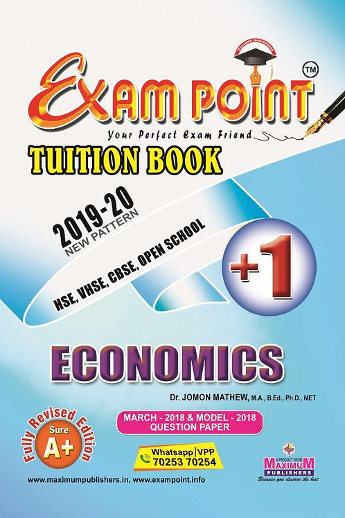 Plus One Economics (English) Tuition Book Kerala Syllabus