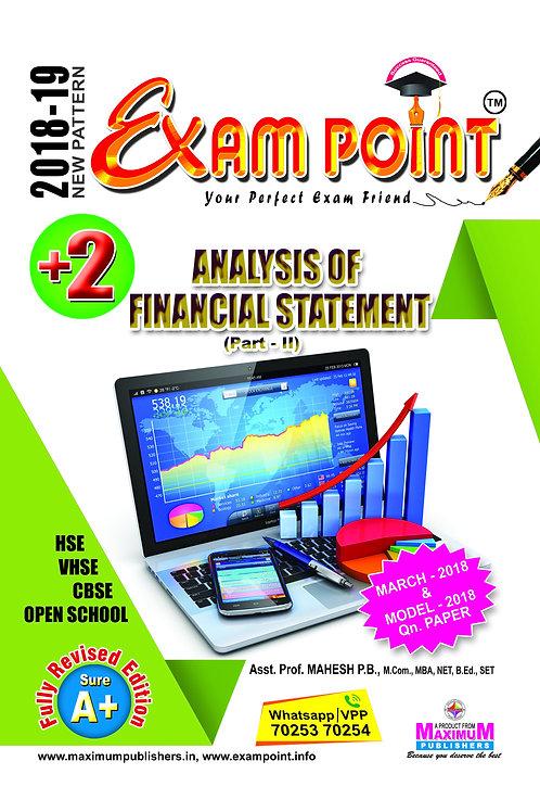 Plus Two Analysis Of Financial Statement Part -2 Kerala Syllabus