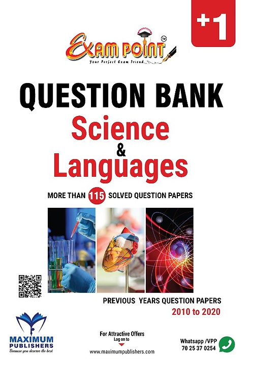 PLUS ONE SCIENCE QUESTION BANK (Subjects & Languages)