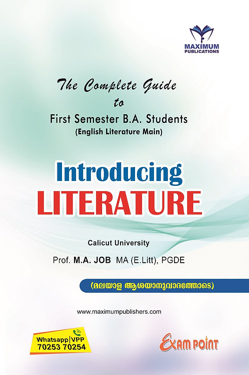 INTRODUCING LITERATURE For Calicut University First Semester B.A Students