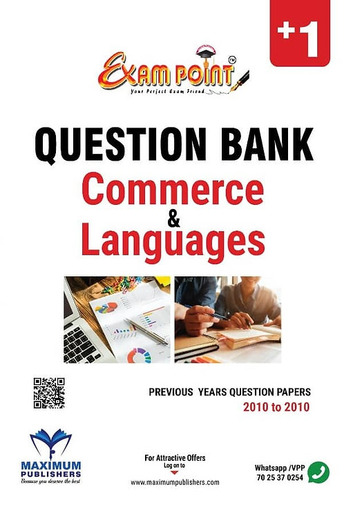 PLUS ONE COMMERCE & LANGUAGES QUESTION BANK  (KERALA SYLLABUS)