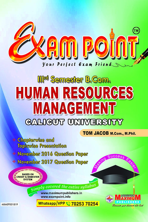 Third Semester Human Resources Management for Calicut University B.Com Students