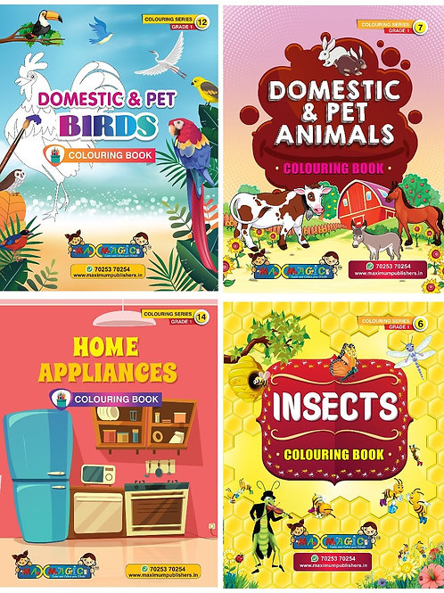 Domestic Birds & Animals, Home Appliances , Insects (Combo Pack)