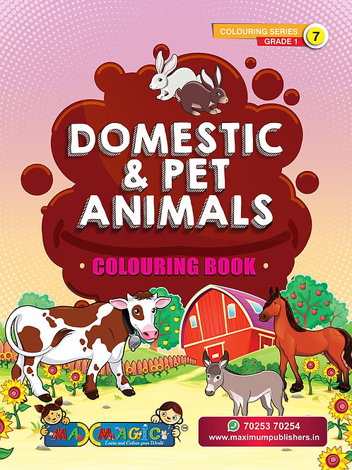Domestic & Pet Animals Colouring Book