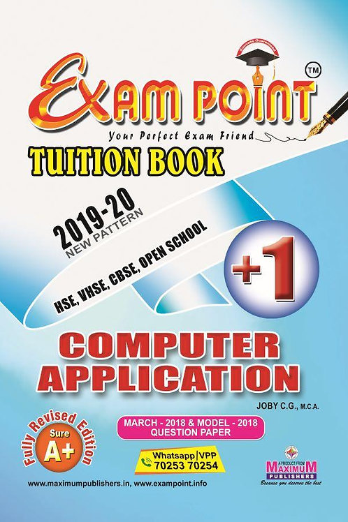 Plus One Computer Application  Tuition Book (English)