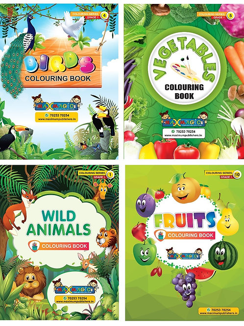 Birds , Vegetables ,Wild Animals ,Fruits (Combo Pack)