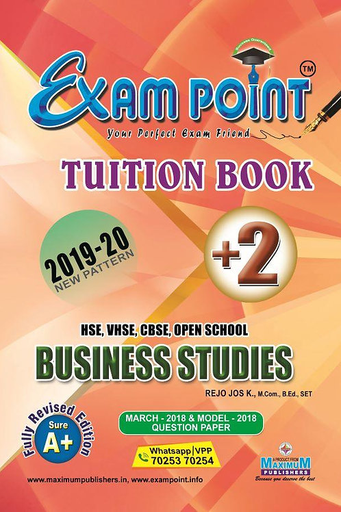 Plus Two Business Studies (English) Tuition Book Kerala Syllabus