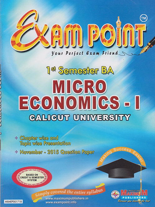 1st Sem MICRO ECONOMICS -1 (BA Calicut University)