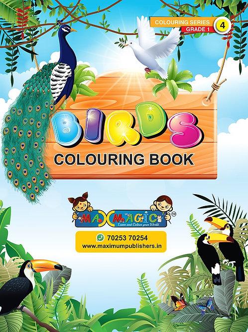 Birds Colouring Book For Kids (with description)