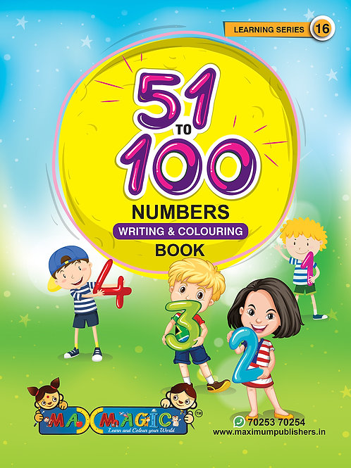 51 to 100 Numbers Writing book For Kids