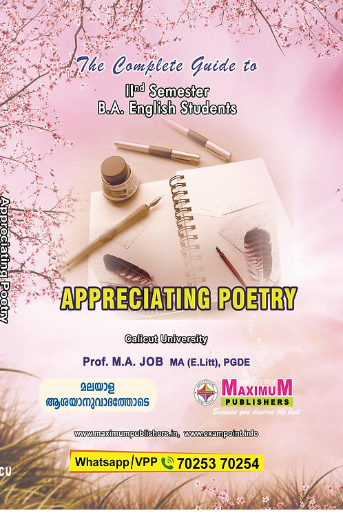 APPRECIATING POETRY for calicut university second semester B.A English Students