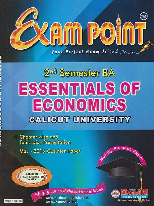 2nd Sem ESSENTIALS OF ECONOMICS (BA Calicut Univetrsity)