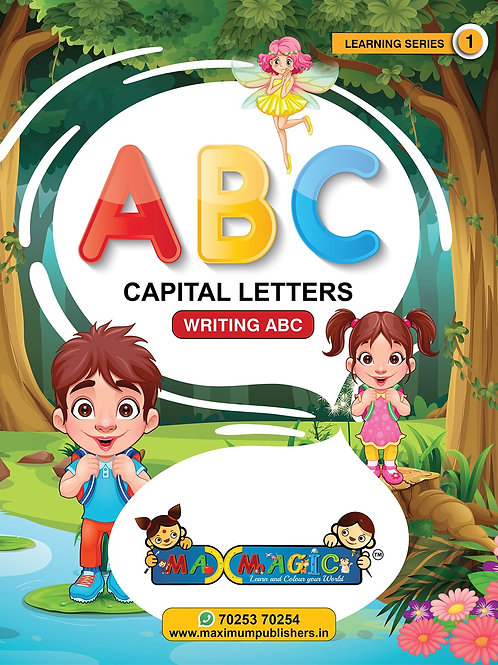 Learning and   A to Z Capital Letters MAX MAGIC Learning Series 1 (Pack of 4)