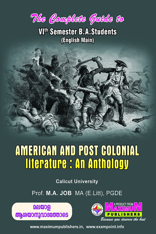 6th Sem American & Post Colonial Literature (BA. Calicut University)