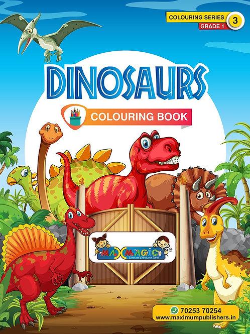 Dinosaurs  Colouring Book (with description) ForPRE-KG, LKG ,UKG Kids