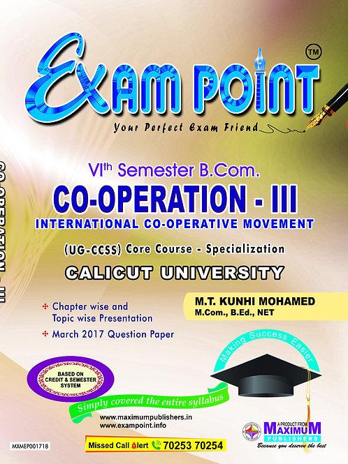 6th Sem CO-OPERATION - III (B.Com Calicut University)