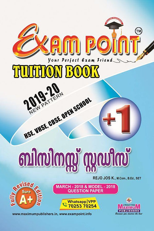 Plus One Business Studies (Malayalam) Tuition Book Kerala Syllabus