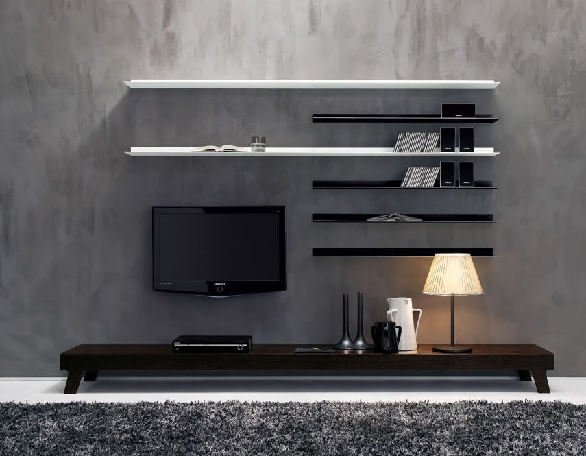 Modern-Living-Room-TV-Wall-Units-Design-02-in-Dark-Brown-Black-and-White-Colors.