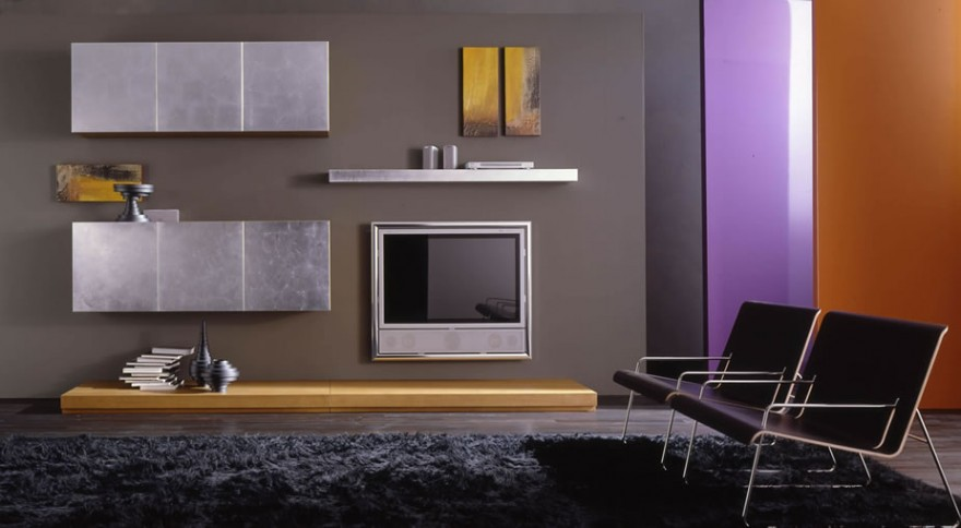 Modern-Living-Room-TV-Wall-Units-18-in-Wood-Brown-Color-and-Metal-Chrome-880x484