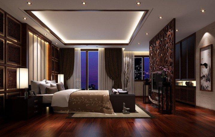 3-Dark-hardwood-flooring-ideas-for-bedroom-with-pop-ceiling-designs.jpg