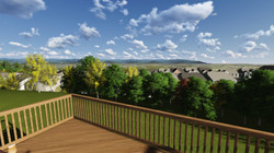 Enjoy the View from the Back Deck