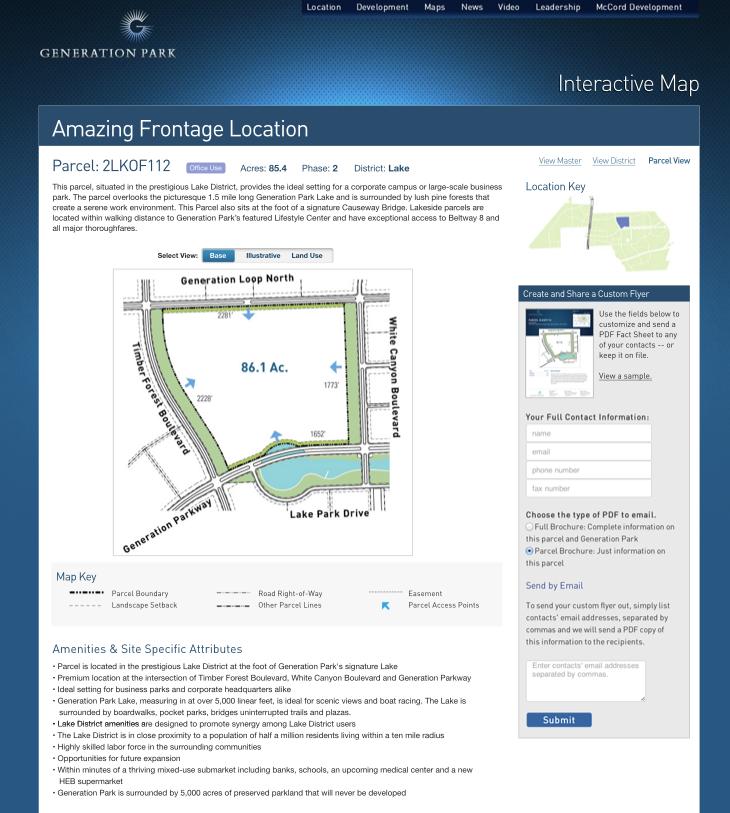Generation Park Interactive Map
