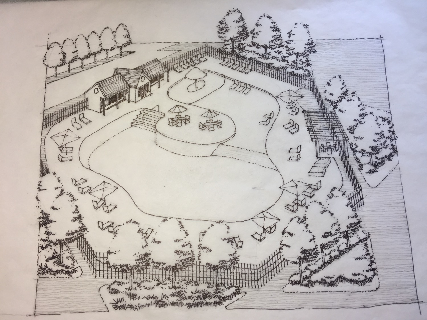 Arbor Lake Pool Sketch