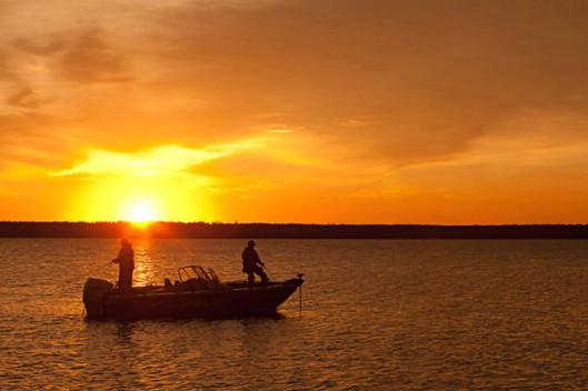 Fishing on the Saskatchewan River