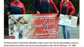 500 Euro für Vereine der Flutkatastrophe