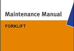 forklift maintenance manual