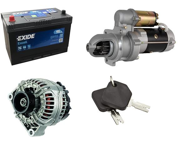 battery, alternator, starter and keys for mitsubishi fork lift maintenance repair services