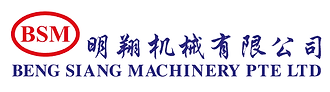 Beng Siang Machinery company logo, red and blue colour.