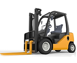 yellow toy forklift icon