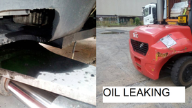 Engine oil leaking