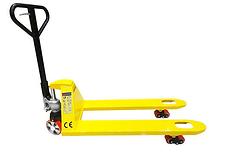 yellow hand pallet truck