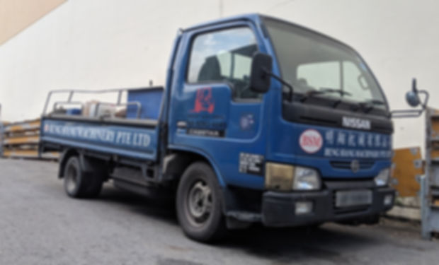 beng siang forklift lorry blue