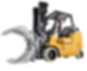 Hyster forklift with paper roll clamp for rental in singapor
