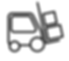 forklift icon with loads on fork