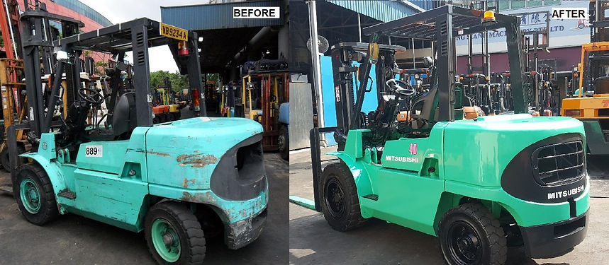 mitsubisi forklift repair service before and after in singapre