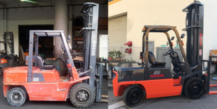 nissan 3 ton forklift restoration before and after