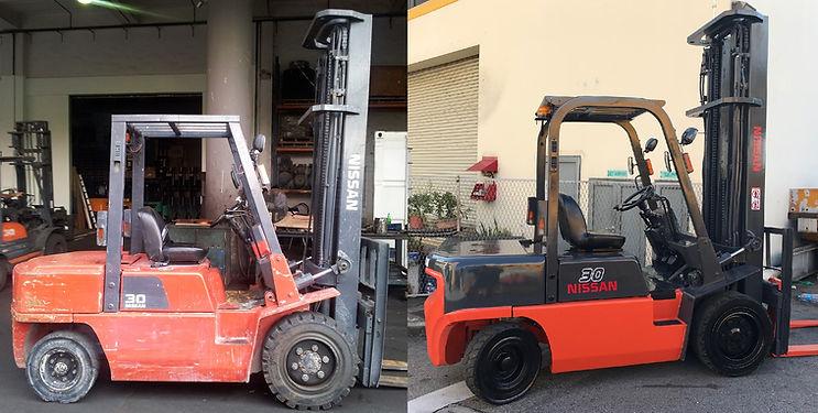 nissan 3 ton forklift restoration before and after
