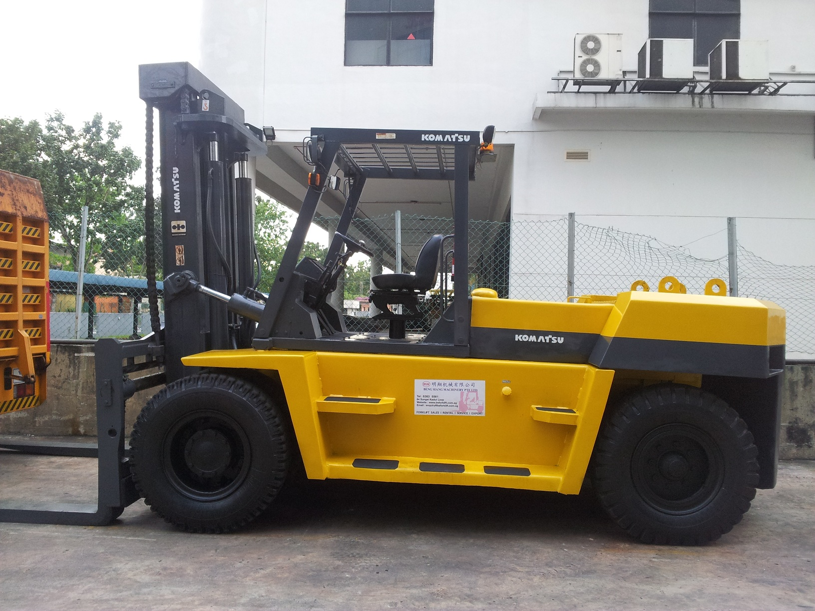 15 Ton Forklift for Rent in Singapore I Beng Siang Machinery