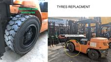 Damaged Tyres