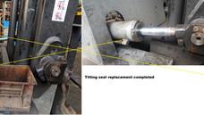 Tilting oil leaking