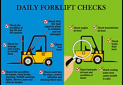 daily forklift checks diagram
