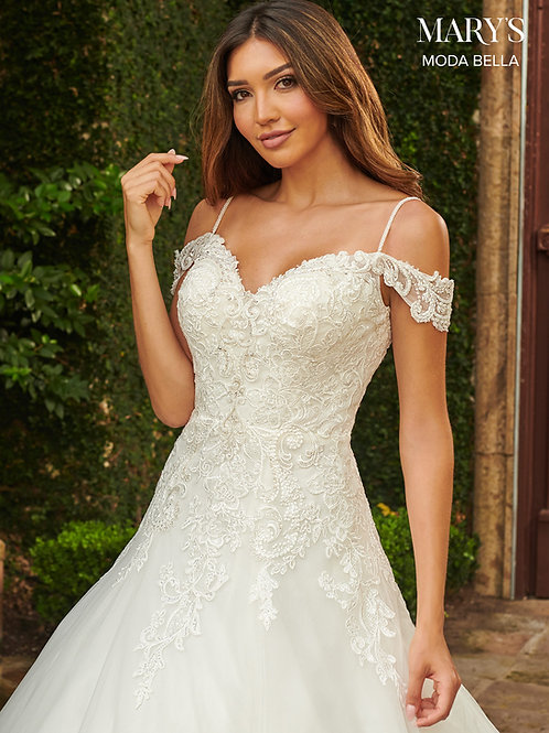 Mary's Moda Bella Ethereal Fitted A-Line Wedding Dress