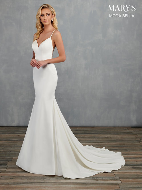 Mary's Beautiful Stretch Crepe Wedding Gown