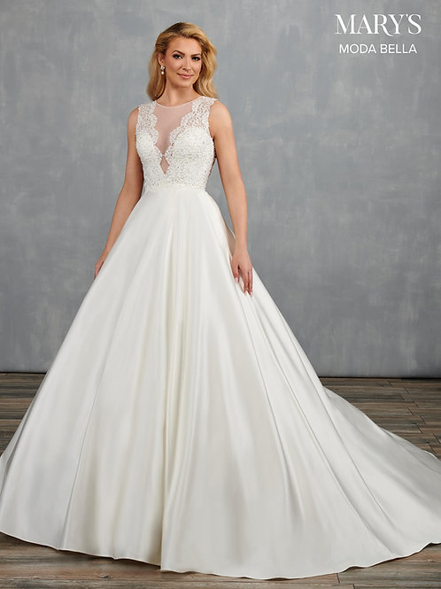 Mary's Lace Applique and Tulle Wedding Gown