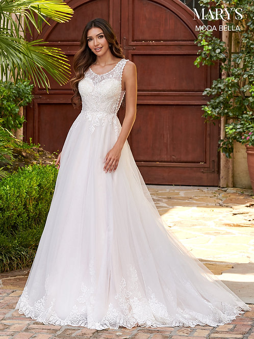 Mary's Moda Bella A-Line Tulle Wedding Dress